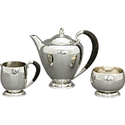 Georg Jensen Sterling Silver 3 Piece Coffee Set #34B