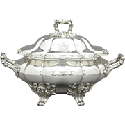 Old Sheffield Plate Large Tureen English c. 1840