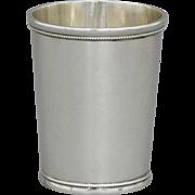 Coin Silver Mint Julep Cup C.D. Sullivan St. Louis c. 1845-1862