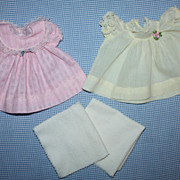 Two Baby Doll Dresses for Tiny Tears and Friends 1950s