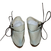 White Ankle Boots for Bleuette or Tiny Dolls - Fits Effanbee Patsyette