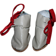 Leather Ankle-Boots for Bleutte or Tiny Bisque Dolls - Also fits Effanbee Patsyette