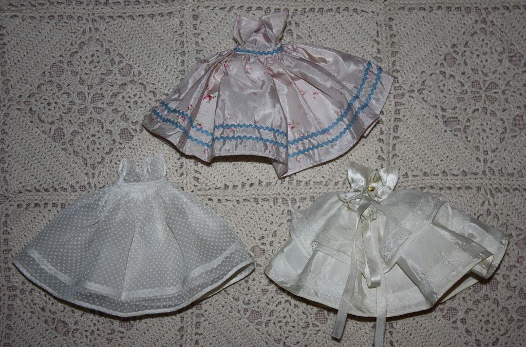 Three dresses for storybook dolls from camelot pc rl on ruby lane