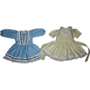 Two Dresses for Hard Plastic Dolls such as Ideal Toni 1950s