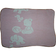 Pink and White Flannel Baby Doll Blanket for Dydee and Friends