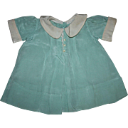 Very Rare Effanbee Dy-Dee Louise Green Crepe Dress 1940s