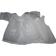 Organdy Dress with Lavender Dots for Large Mama Dolls 1920