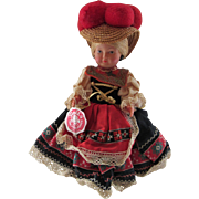 Trachten Puppen Celluloid Doll with Tag Germany - Red Tag Sale Item