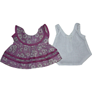Lavender and White Dress for Composiiton Dolls such as Shirley Temple 1930s