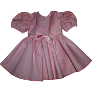 Pink and White Dress for Hard Plastic Large Walkers 1950s