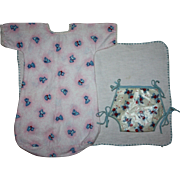 Animal Print Bunting, Diaper, and Blanket for Dy-Dee and Friends 1950s