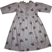 Pink Pique Floral Dress for Large Walker Dolls such as Sweet Sue 1950s