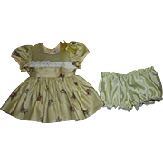 Cotton and Organdy Doll Dress and Underwear for Hard Plastic Dolls 1950s