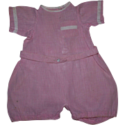 Drop-Drawer Pink Gingham Romper 1920