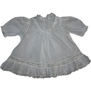White Batiste Dress, Slip, Booties for Bisque or Composition Dolls 1920