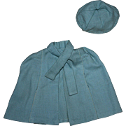 Blue Cape and Hat for Wendy Ann Doll 1930s