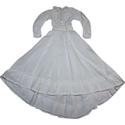 White Muslin Dress for China Head and Parian Dolls