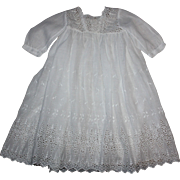 Lovely White Lawn Baby Dress for Big Dolls