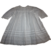 Antique White Lawn Baby Dress