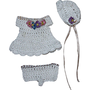 Three Piece Crocheted Outfit for Doll House Dolls