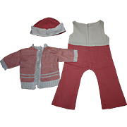 Three Piece Doll Outfit for Effanbee Patsy Lou and Friends 1930