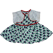 Floral Pique Ideal Doll Dress 1952