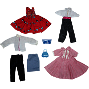 Group of Factory Doll Clothing for Small Fashion Dolls 1950s