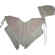 Pink and White Doll Sweater Set for Big Baby Dolls 1930
