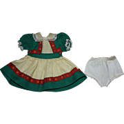 Original Ideal P91 Toni Doll Dress and Underwear