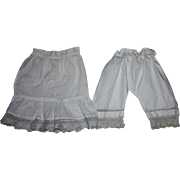 Antique Doll Slip and Bloomers for French or German Bisque Dolls