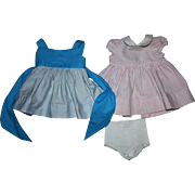 Two Chatty Cathy Doll Dresses 1960s