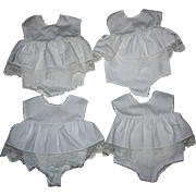 Four Chatty Baby Doll Combination Slip-Underwear 1960s