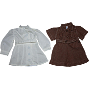 Two Terri Lee Doll Dresses 1950s