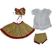 Four Piece Outfit for Madame Alexander Wendy 1930s