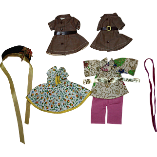 Group of Clothing for 8 inch dolls such as Ginny, Alexanderkins, Ginger and Friends 1950s