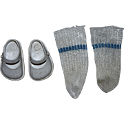 Ideal Marked Doll Shoes and Rayon Socks 1950s