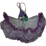 Purple and White Arranbee Littlest Angel Gown 1950s
