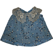 Lovely Blue Silk Dress for Effanbee Patsy and Friends 1930's