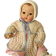 Pretty Three Piece Sweater Set for Big Baby Dolls 1930s