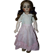Pink and White Two Piece Doll Outfit Dress for French or Bisque Dolls 1910