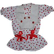 Red and White Dress for Bisque Dolls