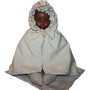 Wonderful antique wool and silk cape for bisque baby dolls.