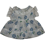 Lovely Batiste Doll Dress and Slip 1930s