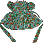 Cute Print Dress and Underwear for Hard Plastic Dolls 1950s