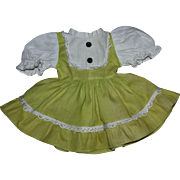 Original Lime Green Pique Beat the CLOCK Dress 1950s