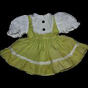 Original Lime Green Pique Beat the CLOCK Dress 1950s