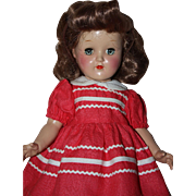 Darling Hot Pink Pique Doll Dress 1950s