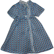Blue Dimity Doll Dress 1930s