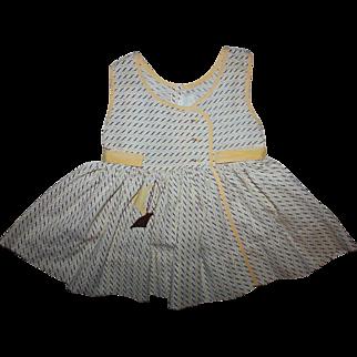 Darling Yellow Print Sundress for Patti Playpal 1950s
