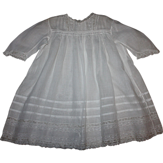 Beautiful Antique Lawn Baby Dress also Great for Large Bisque
